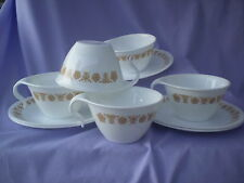 Corelle Dishes Butterfly Gold Open Handle Cups And Saucers 5 Sets
