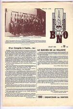 Chantier de jeunesse - Bulletin des chantiers n° 18 de juilllet 1989