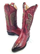 Frye 'Billy' Hammered Stud Short Boot- Cognac-Size 5.5M