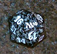 1 Black SPINDOWN Die m10 - 20 sided Spin Down Dice MtG Magic the Gathering