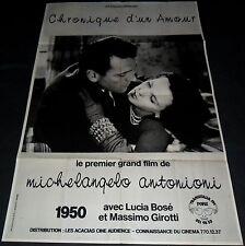 1950 Cronaca di un amore ORIGINAL FRENCH POSTER Michelangelo Antonioni