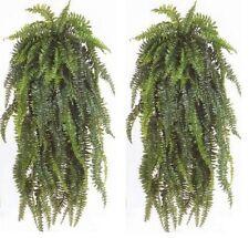 "2 BOSTON FERN 60"" BUSH PLANT SILK ARTIFICIAL PATIO PORCH PALM IVY FLOWER TREE 5'"