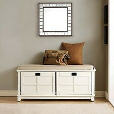 Crosley CF6009-WH Adler Entryway Bench in White Finish NEW