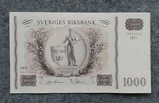 SWEDEN 1000 KRONOR 1971