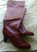 BNWOB Markon burgundy leather boots size 7
