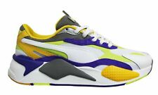 Puma RS-X3 Level Up White Leather Low Lace up Mens Running Trainers 373169 01