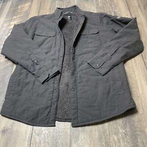 Kuhl Joyrydr Medium Fleece Lined Button Up Shirt Grey EUC