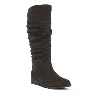 NIB - FLEXUS BY SPRING STEP Women's 'PATULA' SUEDE BOOTS Charcoal - 9