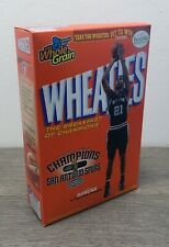 Vintage Wheaties w/ San Antonio Spurs Champions 15.6 oz Full Box Factory Sealed