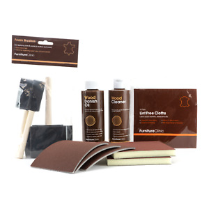 Wood Oil Kit - For Cleaning, Oiling & Restoring Wooden Worktops, Furniture etc.