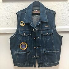 Harley Davidson Vintage denim vest Custom Jeans Jacket