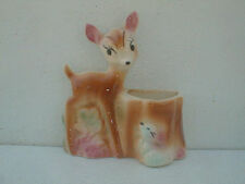 Vintage Disney Bambi wall pocket planter