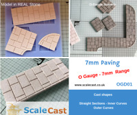 O gauge PAVING MOULD - OGD01 - REAL STONE PAVING for Model Railway in O Scale