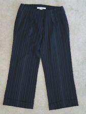 New Women's Jenne Maag Black White Pinstripe Dress Capris (Cropped Pants) Size 4