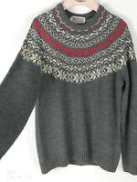 The British jumper company Men's Grey Crew Neck Christmas Jumper Sweater Size L