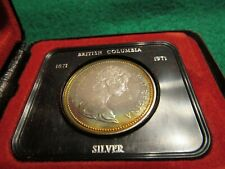 CANADA 1971 BRITISH COLUMBIA SILVER DOLLAR RAINBOW TONING IN BOX!
