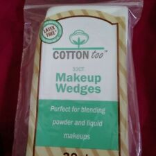 New in package White makeup wedge sponges. 32 Count. Latex Free