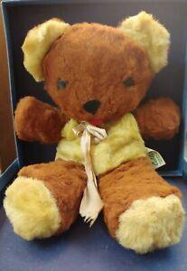 """GUND Early VTG.Sani-Foam CUBBI Teddy Bear Stuffed Plush Swedlin 10"""""""