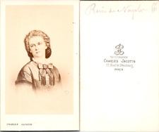 CDV Charles Jacotin, Paris, Marie-Sophie en Bavière, Reine de Naples, soeur de S