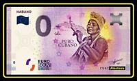 Billet Touristique Souvenir ZERO 0 euro - CU BA - Habano Puro Cabano 2019