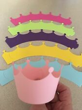 Cupcake Liner Wraps Standard Size Wrappers 12ct Princess Crown - Pick Your Color