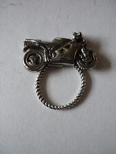 Sport Motor Bike Brooch drop hoop Holder For Glasses , Pen , ID Jewellery cw30