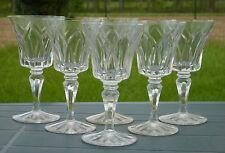 Saint Louis - Service de 6 verres à vin rouge en cristal taillé, modèle Camargue