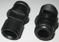 "2 X Flojet 3/4"" Male Quadport 20381 Electric Pump Fitting - 1/2""-14 Male Thread"