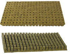 100pcs Starter Plugs Rockwool Cubes 36mm Grow Propagation Cloning Hydroponic
