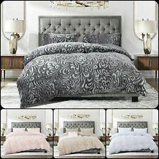 New Fluffy Teddy Duvet cover Set with 2 pillow case Velvet Fleece Warm Bedding