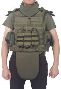SK3 Schutzweste Full Body Armor Taktische Molle Weste Einsatzweste, grün