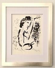 "Marc Chagall 1963 Original Lithograph ""Self Portrait"" (M402) Framed"