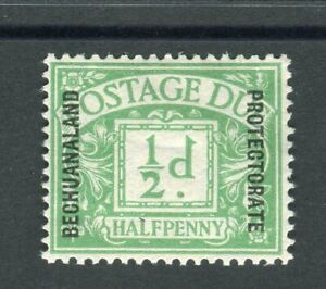 Bechuanaland KGV 1926 Postage due halfpence emerald SG.D1 MH