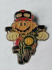 Vintage Nintendo of America 1988 Mario on Motorcycle Pin