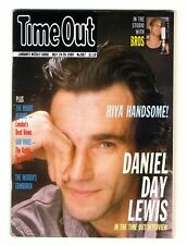 Time Out Magazine No 987 1989 July 19-26 Daniel Day Lewis Bros The insiders