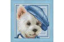 DIAMOND PAINTING DOG WITH HAT AZ-1570