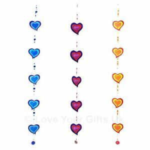 String of Hearts Suncatcher 65cm Wind Mobile Wall Hanging Garden Home Porch