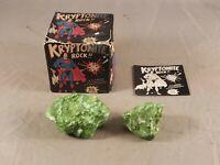 VINTAGE 1977 SUPERMAN KRYPTONITE GLOW IN THE DARK ROCK in ORIGINAL BOX