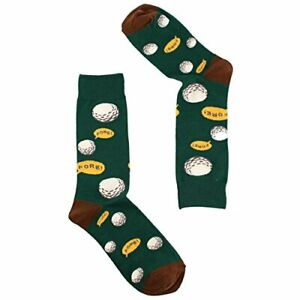 Men's Everday Novelty Funny Golf Lovers Trouser Dressy Casual  Socks FORE! Green