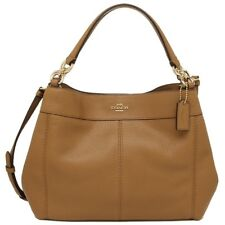 NEW WOMENS COACH (F28992) SADDLE PEBBLED LEATHER SMALL LEXY SHOULDER BAG  HANDBAG 04cb2a6b048f5