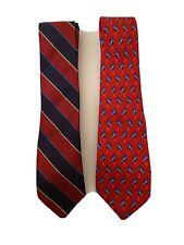 Boys Talbots 100% Silk Neck Ties (2)