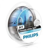 H1 PHILIPS Diamond Vision 5000K White Head Light Bulbs Headlamp Ultra