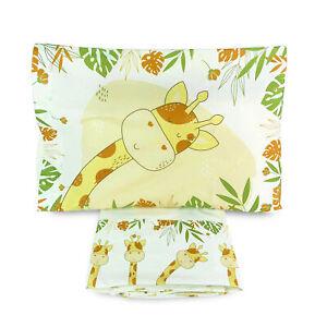 Completo lenzuola culla lettino in cotone Biancaluna stampa digital set 3pz 4154