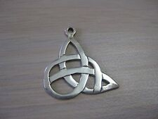 Estate Sterling Silver Flat Celtic Knot Charm or Pendant Necklace 1.6 grams