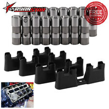 For 12499225 Chevy LS1 LS2 LS7 Performance Hydraulic Roller Lifters 4 Guides