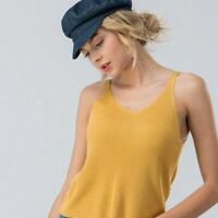 Womens Sleeveless V-Neck Sweater Tank - A New Day Mustard