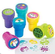 Pack of 6 - Unicorn Stampers - Unicorn Rainbow Party Bag Fillers