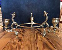 Vintage BRASS CANDELABRA 3 TIER TABLE DISPLAY PROFFESS POLISHED & VARNISHED NICE