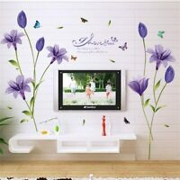 Butterfly I Love You lily poetry wall stickers living room  bedroom home decor