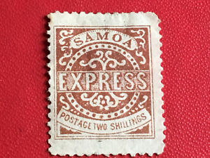 Timbre poste express N°6 Samoa neuf sans gomme 1877 Lot 1